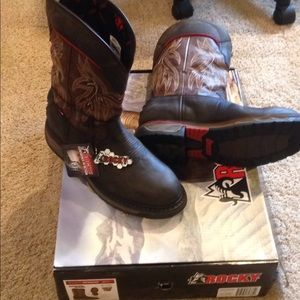 New men's rocky western work boots 11.5 wide wp